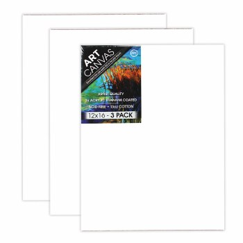 "12""x16"" Artist Stretched Canvas - Triple Pack"