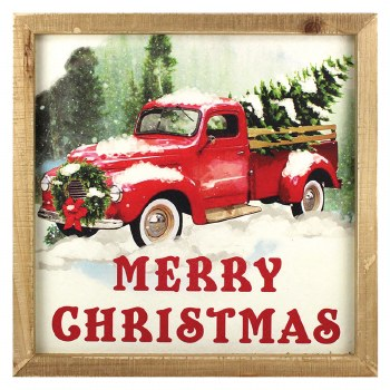 """13"""" Merry Christmas Truck Sign"""