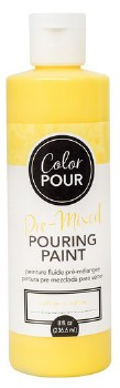 Color Pour Pre-Mixed Pouring Paint, 16oz- Citrine