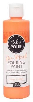 Color Pour Pre-Mixed Pouring Paint, 16oz- Orange
