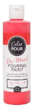 Color Pour Pre-Mixed Pouring Paint, 16oz- Ruby