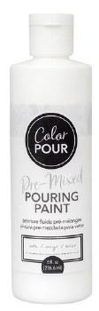 Color Pour Pre-Mixed Pouring Paint, 16oz- Snow