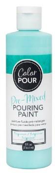 Color Pour Pre-Mixed Pouring Paint, 16oz- Turquoise