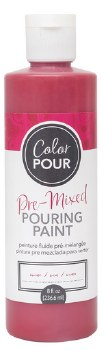 Color Pour Pre-Mixed Pouring Paint, 16oz- Wine
