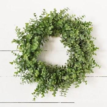 "Eucalyptus Wreath, 18"""