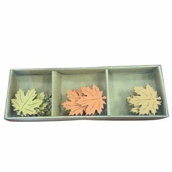 Maple Leaves Wood Embellishments, 18pc