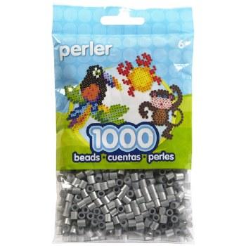 Perler Beads 1000 piece- Silver Metallic