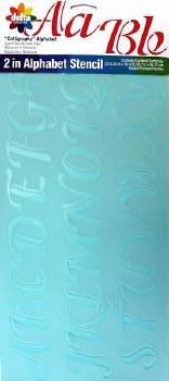 """Delta Alphabet Stencils, 2""""- Calligraphy Upper & Lowercase"""