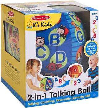 K's Kids Toys- 2-in-1 Talking Ball