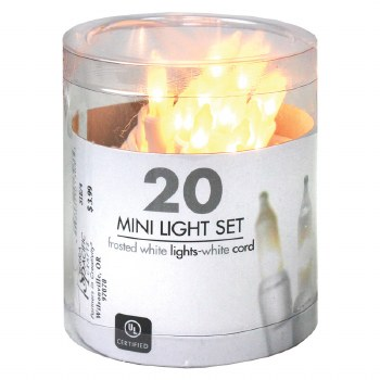 20ct Mini Light Set- Frosted White