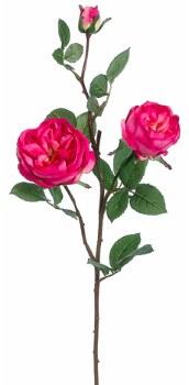 "Cabbage Rose Spray, 29""- Fuschia"