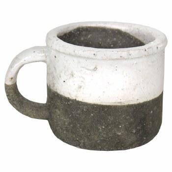 "Stoneware Cup Planter, 3.5"""