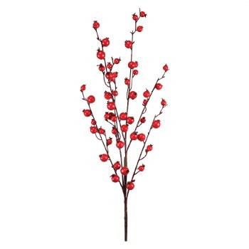 "30"" Mini Pomegranate Berry Spray- Red"