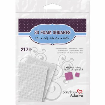 "3D Foam Squares- .25"" (154) & .5"" (63)"