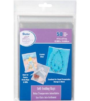 """Self Sealing Plastic Bags, 50ct- 4.75""""x5.75"""""""