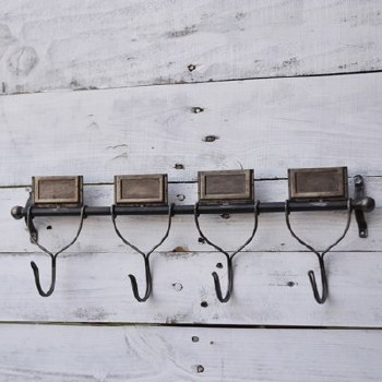 4 Hook Tin Wall Piece
