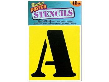 "Poster Stencils, 48pc- 4"""