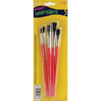Kids Craft Brushes, 5ct