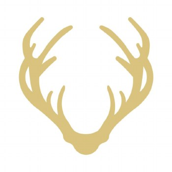Antler MDF Cut Out- 6""
