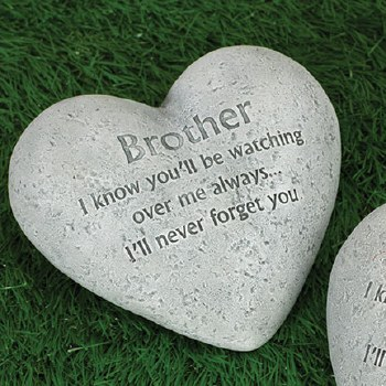 """6"""" Heart Memorial Stone- Brother"""