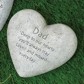 "6"" Heart Memorial Stone- Dad"