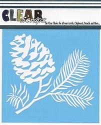 Clear Scraps 6x6 Stencil- Pinecone
