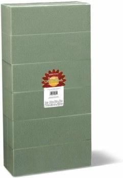 """Green Floral Foam 6pk- 3""""x4""""x8"""""""