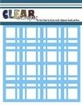 Clear Scraps 6x6 Stencil- Plaid