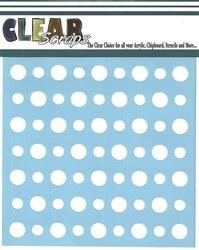Clear Scraps 6x6 Stencil- Polka Dots