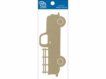 Paper Accents Chipboard- Truck 2ct