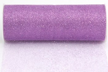 "6"" Glitter Tulle Roll, 10 yards- Lavender"