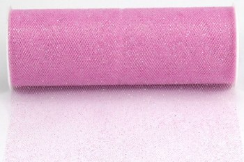 "6"" Glitter Tulle Roll, 10 yards- Pink"