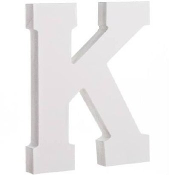 """White Wood Letter, 6""""- K"""