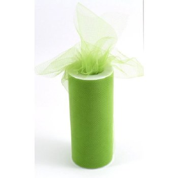 "6"" Tulle Roll, 25 yards- Apple Green"