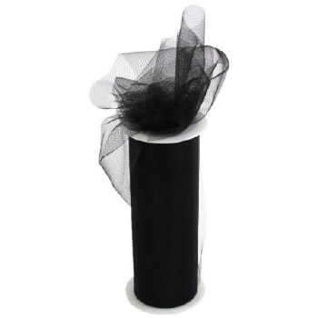"6"" Tulle Roll, 25 yards- Black"