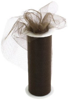 "6"" Tulle Roll, 25 yards- Chocolate"