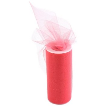 "6"" Tulle Roll, 25 yards- Coral"