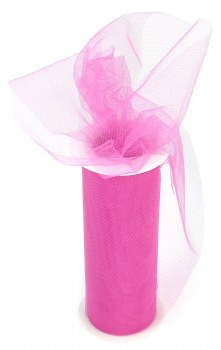 "6"" Tulle Roll, 25 yards- Fuchsia"