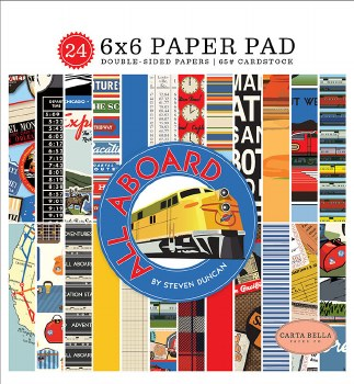 All Aboard 6x6 Paper Pad