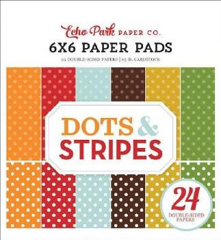 Fall Dots & Stripes 6x6 Paper Pad