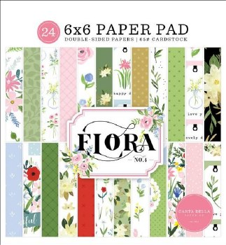 Floral No.4 6x6 Paper Pad