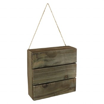 """Plaque with Wood Slats- 6""""X6"""""""