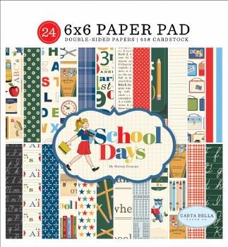 School Days Carta Bella 6x6 Paper Pad