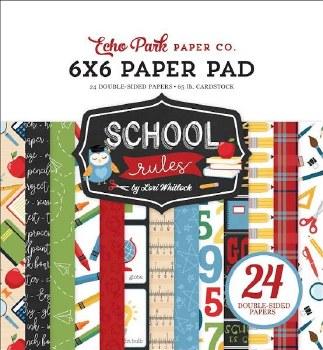 School Rules 6x6 Paper Pad