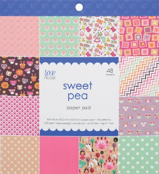 Love, Nicole 6x6 Paper Pad- Sweet Pea
