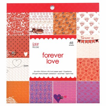 Love, Nicole 6x6 Paper Pad- Forever Love