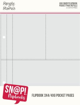 """Sn@P! 6x8 Flipbook Refill Pages- 4""""x6""""/3""""x4"""" Pockets"""