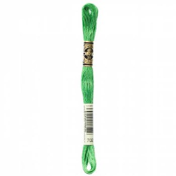 702 DMC Embroidery Floss - Kelly Green