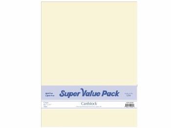 Paper Accents 8.5X11 Cardstock Super Value Pack- Cream