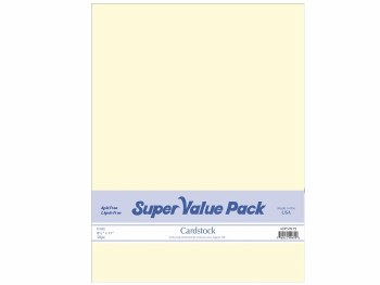 Paper Accents 8.5X11 Cardstock Super Value Pack- Ivory